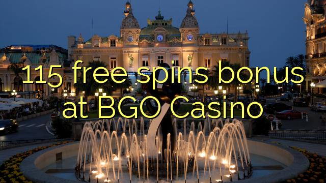 115 pulsuz BGO Casino bonus spins