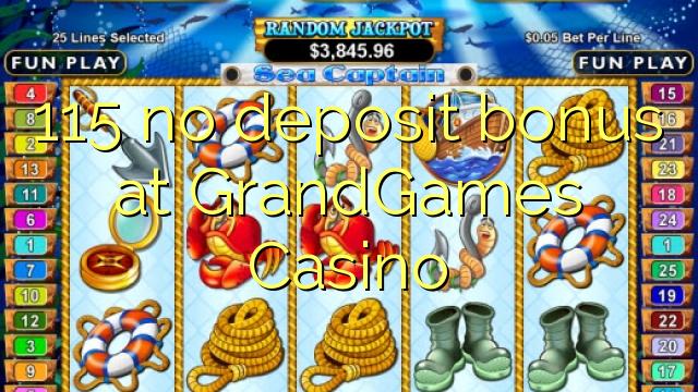 115 Bonus ohne Einzahlung bei Casino Grandgames