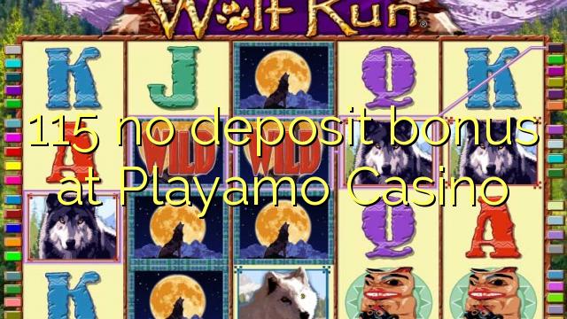 115 bonus senza deposito al Casinò Playamo