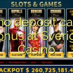 115 no deposit casino bonus at Sverige  Casino