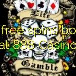 120 free spins bonus at 888 Casino