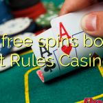 120 free spins bonus at Rules Casino