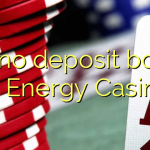 120 no deposit bonus at Energy Casino