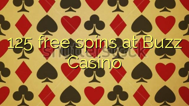 125 darmowe spiny w kasynie Buzz