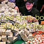125 free spins bonus at Staybet Casino