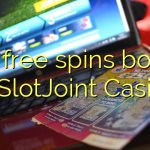 130 free spins bonus at SlotJoint Casino