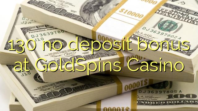 130 Bonus ohne Einzahlung bei Casino GoldSpins