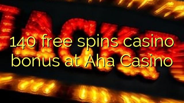 140 gratis spins casino bonus på Aha Casino