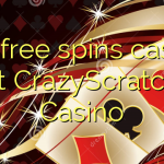 145 free spins casino at CrazyScratch Casino