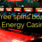 15 free spins bonus at Energy Casino