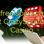 150 free spins casino at CrazyScratch Casino