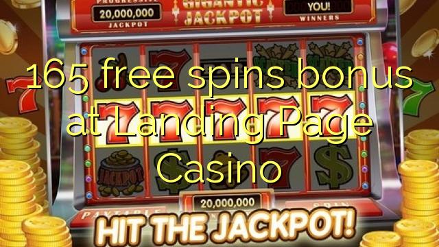 165 zadarmo točí bonus na vstupné stránky kasína