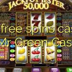 165 free spins casino at Mr Green Casino
