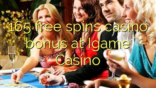 165 gratis spins casino bonus på iGame Casino