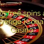 175 free spins at Sverige Kronan Casino