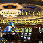20 free spins casino bonus at Leovegas Casino