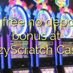 30 free no deposit bonus at CrazyScratch Casino