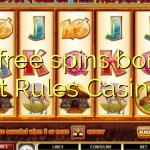 30 free spins bonus at Rules Casino