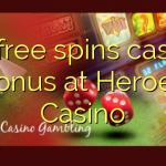 30 free spins casino bonus at Heroes Casino