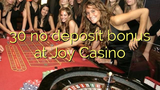 30 Bonus ohne Einzahlung bei Casino Joy