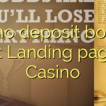 35 no deposit bonus at Landing page Casino
