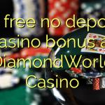 50 free no deposit casino bonus at DiamondWorld Casino