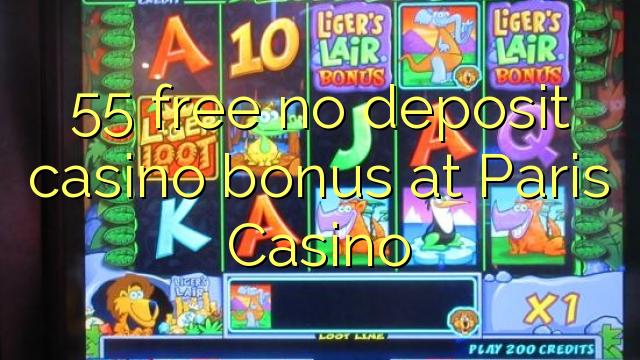 55 gratis geen deposito bonus by Parys Casino