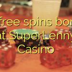75 free spins bonus at SuperLenny Casino