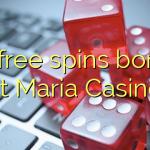 95 free spins bonus at Maria Casino