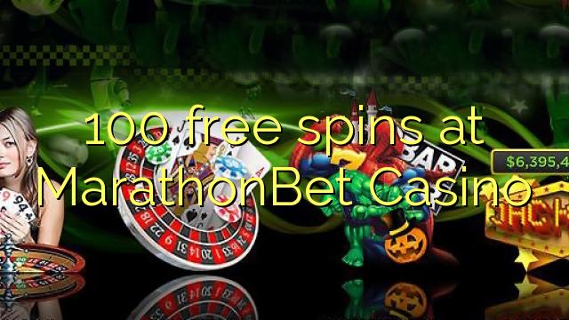 100 free spins at MarathonBet Casino