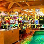 115 free spins bonus at X Casino