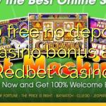 120 free no deposit casino bonus at Redbet Casino