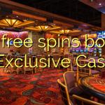 155 free spins bonus at Exclusive Casino