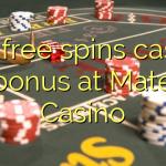 160 free spins casino bonus at Mate Casino