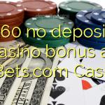 160 no deposit casino bonus at 21Bets.com Casino