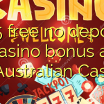 165 free no deposit casino bonus at AllAustralian Casino