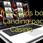 170 free spins bonus at Landing page Casino