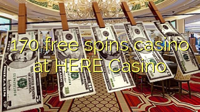 170 ilmaiskierrosta kasinon tästä Casino