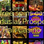 175 free spins casino bonus at Prospect Hall Casino