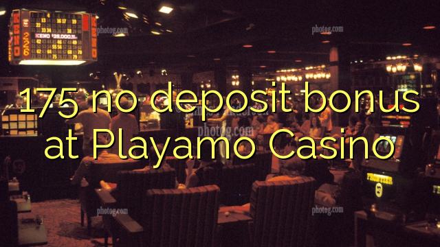 175 no deposit bonus på Playamo Casino