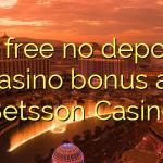 20 free no deposit casino bonus at Betsson Casino