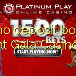 20 no deposit bonus at Gala Casino