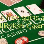 25 free spins at AllBritish  Casino