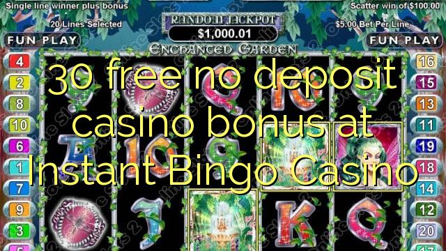 30 ħielsa ebda bonus casino depożitu fil Instant Bingo Casino