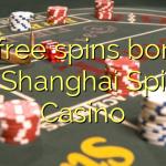 45 free spins bonus at Shanghai Spins Casino