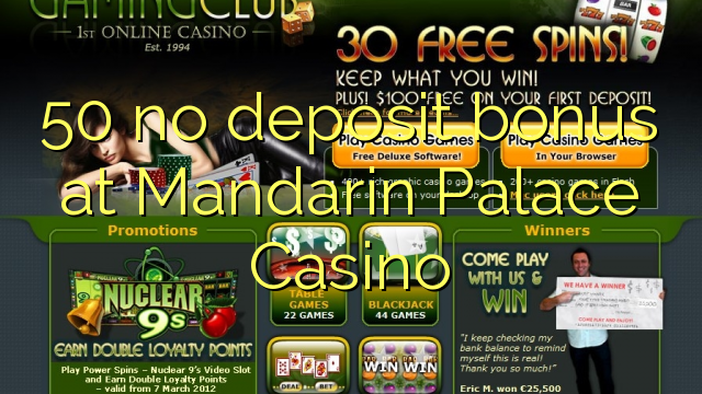 the mandarin palace casino no deposit codes