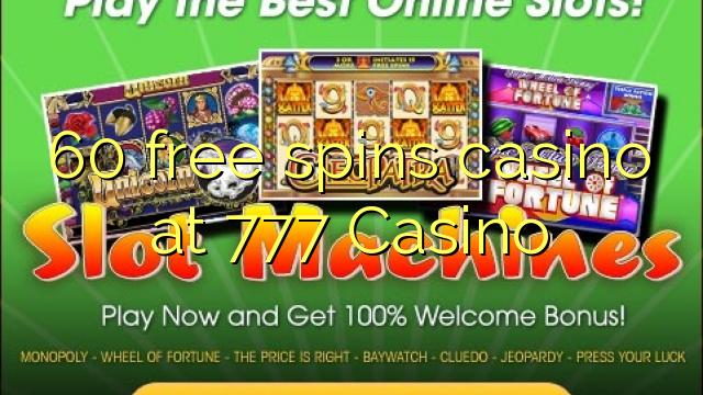 casino 60 free spins no deposit