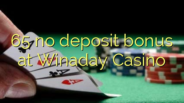 65 ingen innskuddsbonus på Winaday Casino