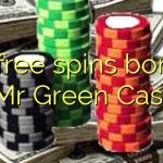 75 free spins bonus at Mr Green Casino