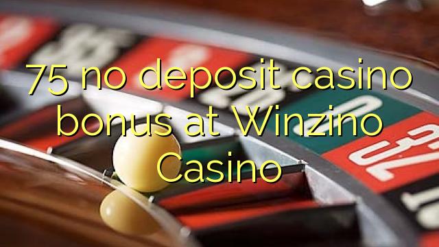 75 nemá kasinový bonus v kasinu Winzino